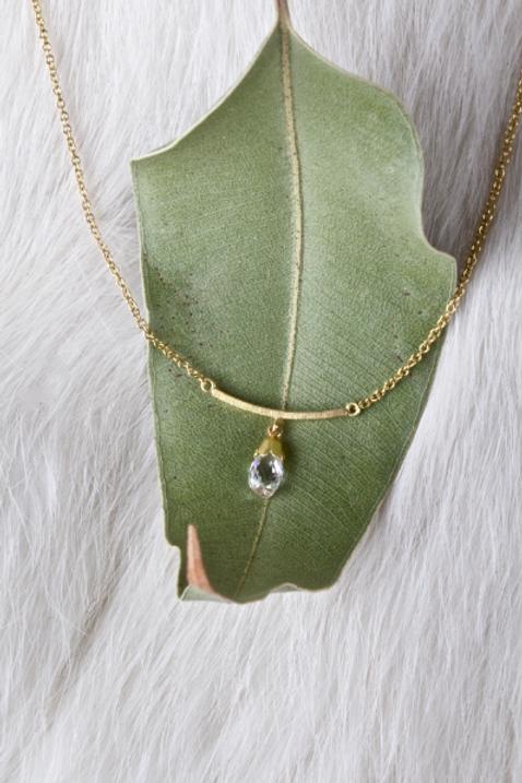 Gold Diamond Briolette Necklace (04348)