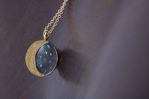 Mini Moon and Stars Pendant (05523)