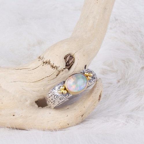 Mixed Metal Opal Ring (04032)