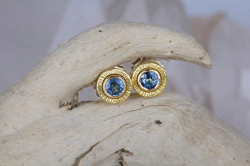 Sapphire Stud Earrings (02194)