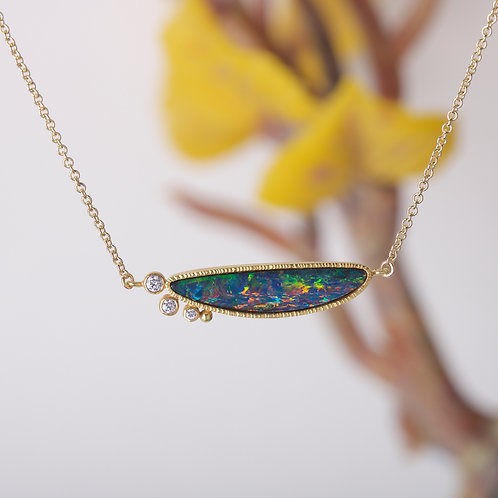 Opal and Diamond Necklace (06586)