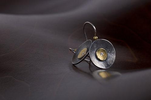 Mixed Metal Earrings (05042)