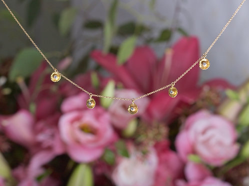 Gold Dish Charm Necklace (05986)