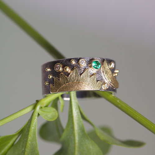 Slender Sun and Moon Ring (05897)