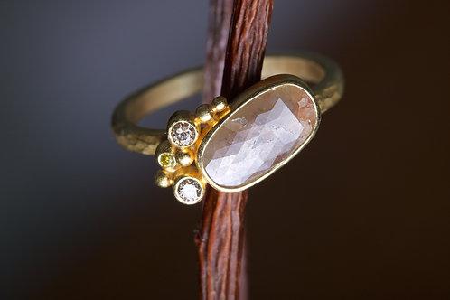 Rose Cut Champagne Diamond Ring (06226)