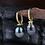 Thumbnail: Tahitian Pearl Diamond Earrings (02915)
