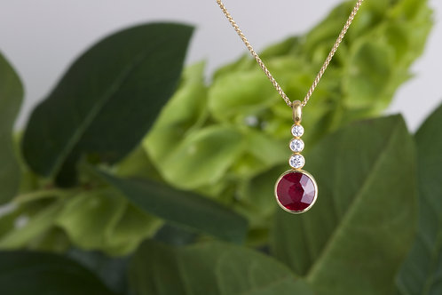 Ruby and Diamond Pendant (06594)
