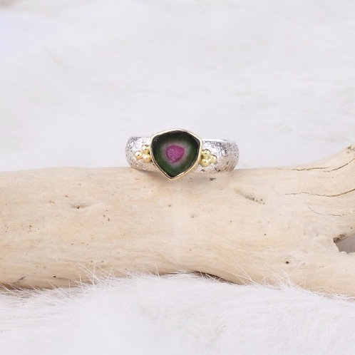Watermelon Tourmaline Ring (04028)