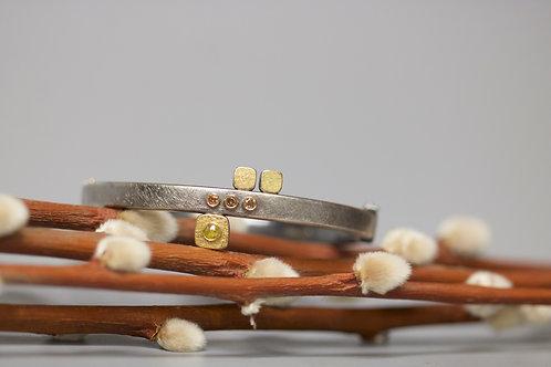 Mixed Metal and Diamond Bracelet (06745)