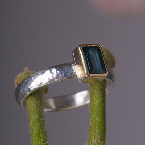 Blue Tourmaline Stacking Ring (05890)