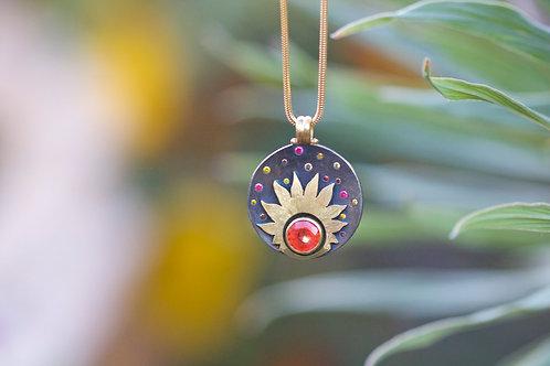Sapphire Sun Pendant (06810)