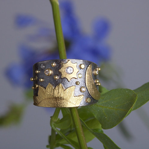Sun and Moon Ring (05896)