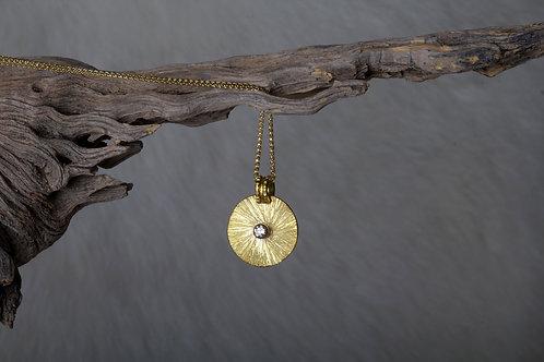 Gold Diamond Pendant (02613)