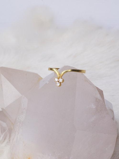 Triple Diamond Ring (04583)