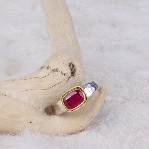 Mixed Metal Ruby Ring (04066)