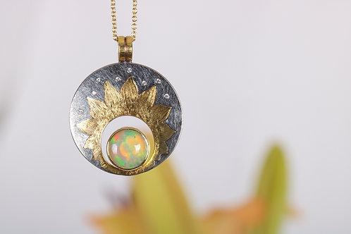 Opal and Sun Pendant (06179)