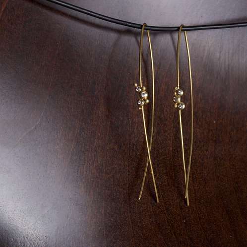 Elliptical Cluster Earrings (05721)