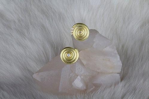 Gold Spiral Earrings (02914)