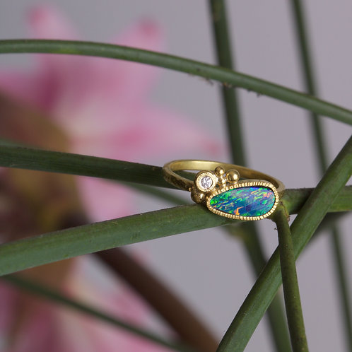Opal and Diamond Ring (06021)