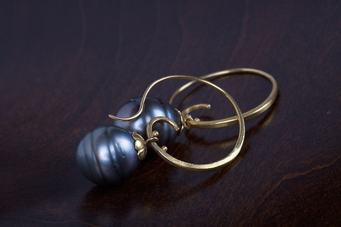 Tahitian Pearl Earrings (04310)