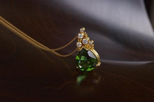 Tourmaline Water Drop Necklace (04764)