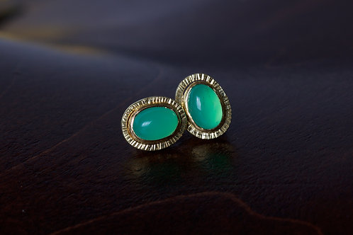 Chrysoprase Stud Earrings (04806)