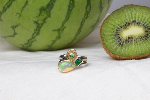 Opal & Emerald Ring (04043)