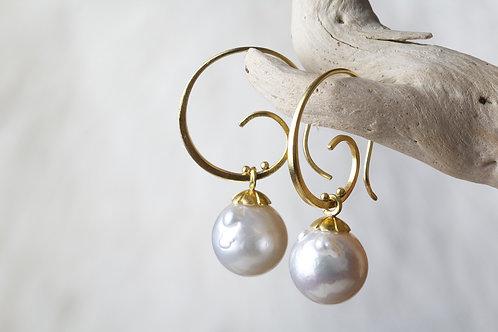 South Sea Pearl Earrings (02736)