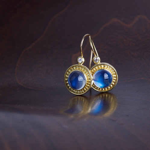 Moonstone and Gold Earrings (05801)