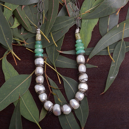 Fresh Water Pearl Beaded Necklace (05837)