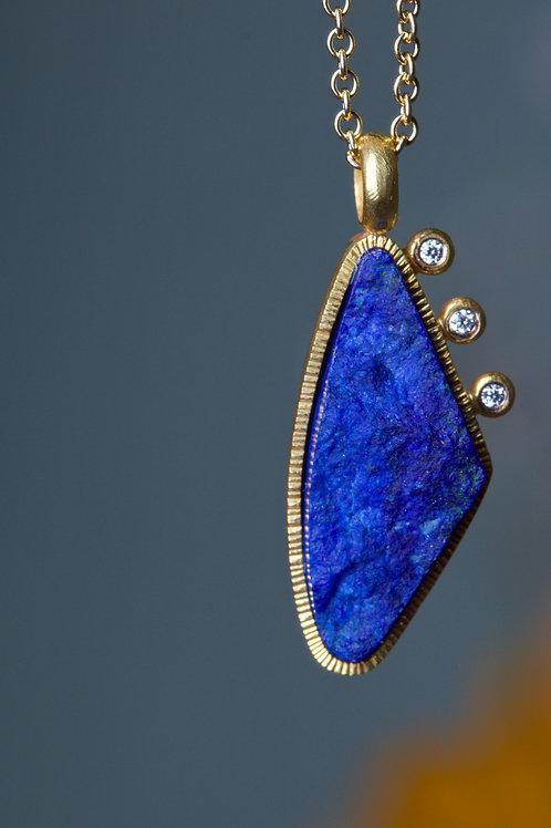 Lapis and Diamond Pendant (06832)
