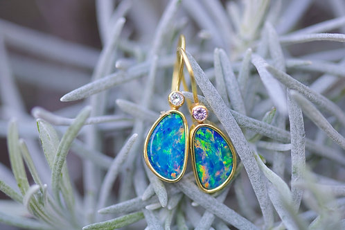 Opal and Diamond Earrings (05819)