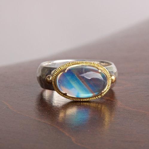 Moonstone Mixed Metal Ring (05861)