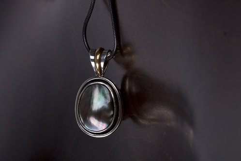 Tahitian Pearl and Silver Pendant (05177)