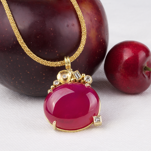 Ruby Diamond Pendant (04049)