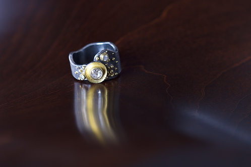 Rose Cut Diamond Ring (04803)