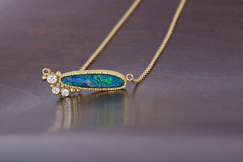 Opal and Diamond Necklace (05543)