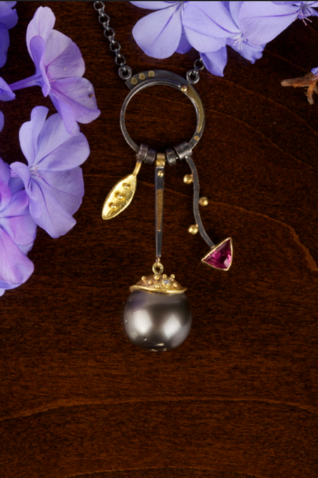 Pearl Charm Necklace (04354)
