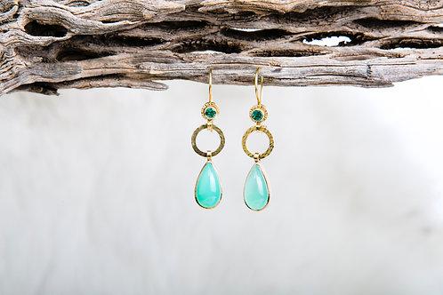 Chrysoprase Emerald Earrings (03719)
