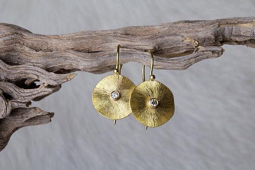 Gold Diamond Earrings (02690)