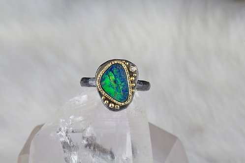 Opal Diamond Ring (03120)