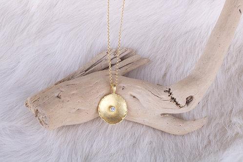 Gold Diamond Pendant (04683)