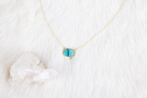 Peruvian Opal Diamond Necklace (04111)