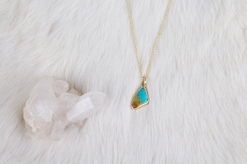 Gold Turquoise Pendant (04197)