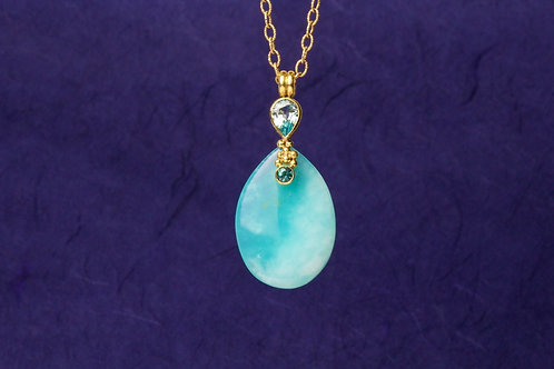 Peruvian Opal Gold Pendant (01885)