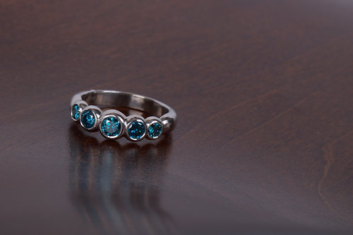 Blue Diamond Engagement Ring (04763)