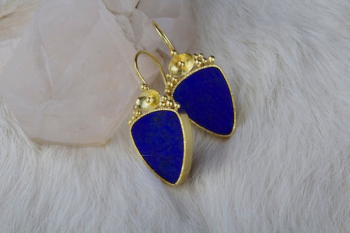Lapiz Lazuli Earrings (02842)