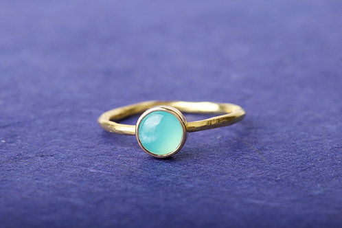 Peruvian Opal Gold Ring (02433)