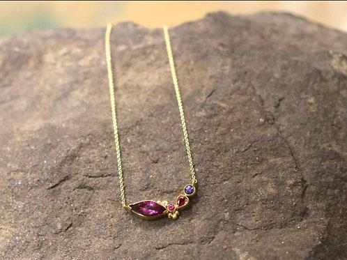 Rhodolite Garnet and Mixed Gemstone Necklace (06906)
