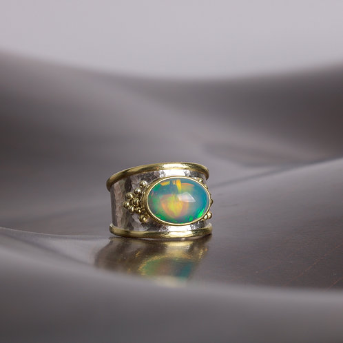 Ethiopian Opal Ring (05784)